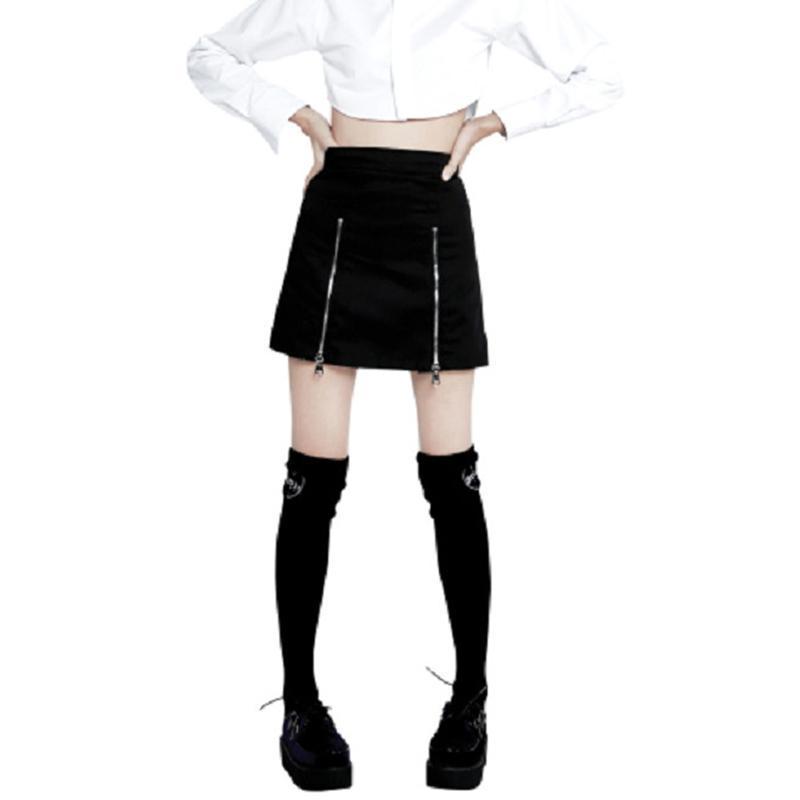 Summer Punk Plaid Mini Skirt - The Black Ravens