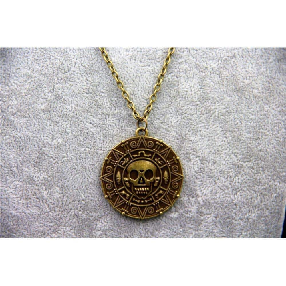 Unisex Aztec Coin Pendants - The Black Ravens
