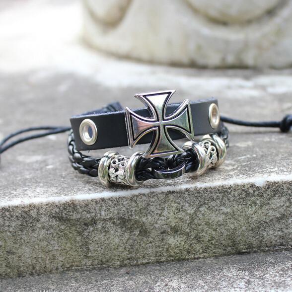 Unisex Braided Holy Wristlet - The Black Ravens