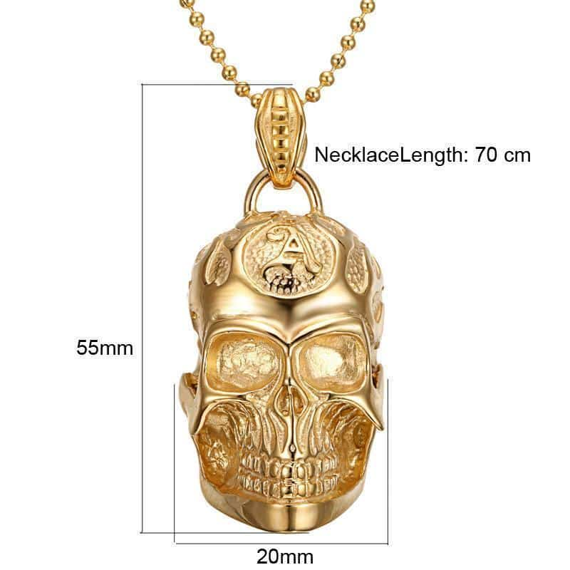 Unisex Skeleton Head Alternative Necklaces - The Black Ravens