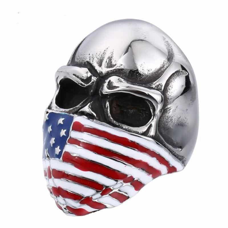 USA Skull Rings For Men - The Black Ravens
