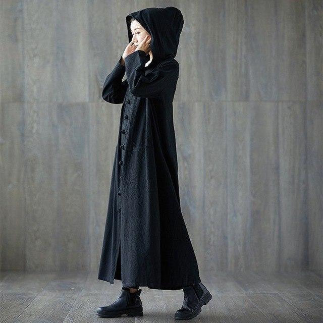 Vampire Fashion Long Overcoat - The Black Ravens