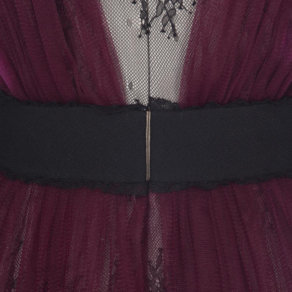 Vintage Casual Lace Purple Dress - The Black Ravens