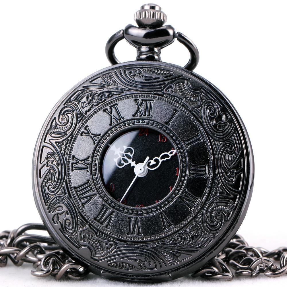 Weird Roman Numeral Steampunk Watches - The Black Ravens