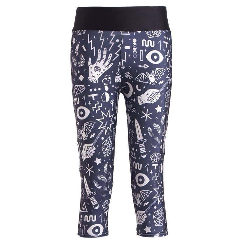 Womens Activewear Fitness Pants - The Black Ravens