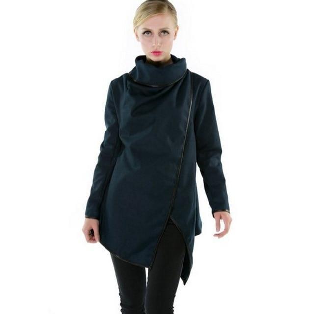 Women's Smart Slim Overcoat - The Black Ravens
