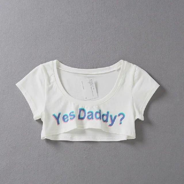 Yes Daddy Hot Crop Top - The Black Ravens